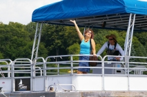 Me arriving at my daughter's sailing camp, Aug 2013