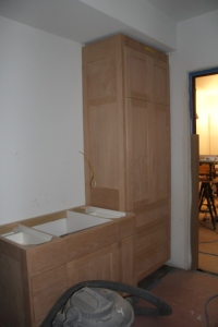 This will be my sink.  To the right is a linen closet (you can see into our bedroom on the right)