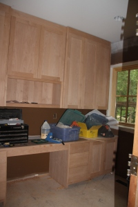 Part of the cabinetry in Rich's office.