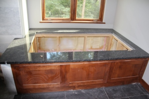 Master tub deck is in!