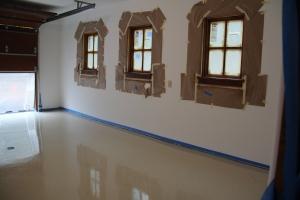 Garage floors freshly epoxied!