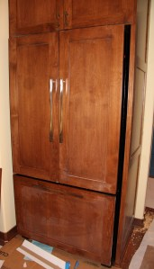 Our fridge.  So glad we did cabinet fronts!