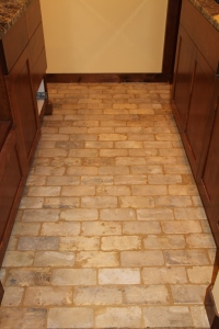 The brick floor in the bar is all grouted