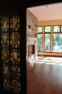 A view from Rich's office, showing off his beautiful doors, the fireplace and the view!