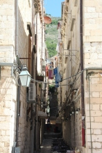 One of the many narrow, staired streets