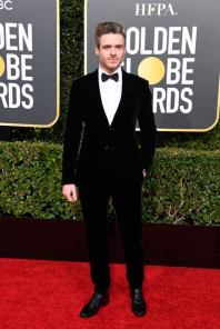 Richard Madden: pretty sure this whole suit is velvet. If I were his date I'd have been petting him all night